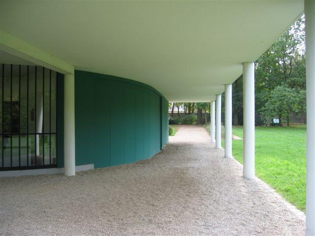 Interni Di Villa Savoye : Foto cortile e salone villa savoye di francesco esposito