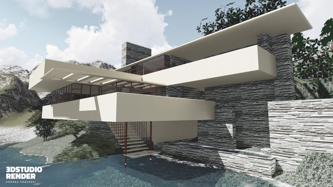 Fallingwater frank lloyd wright architetture dal mondo for Frank lloyd wright piani per la casa